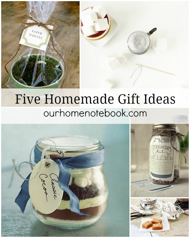 Five Homemade Gift Ideas - Our Home Notebook