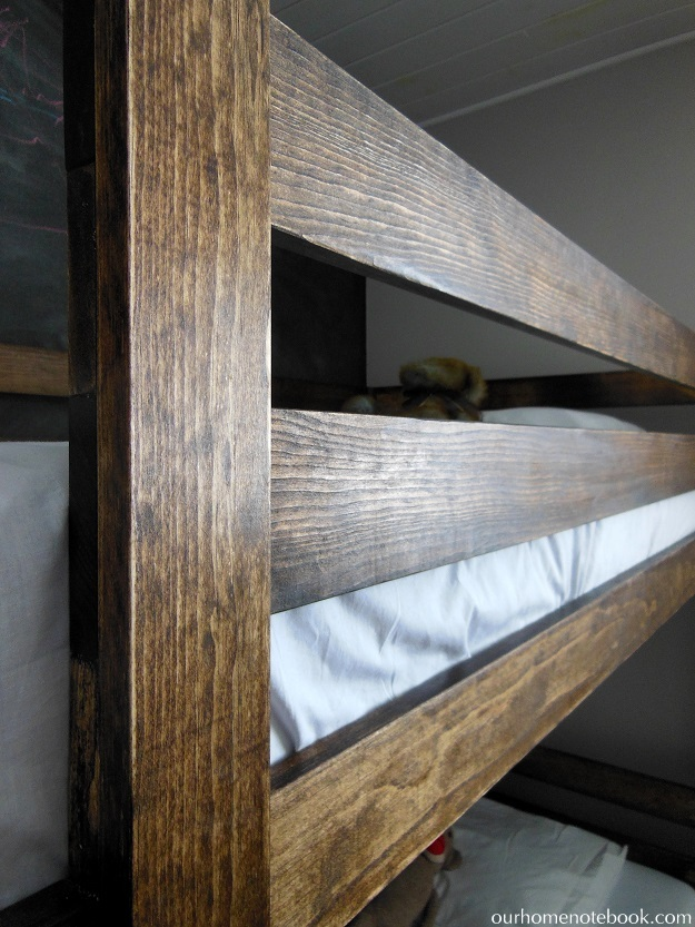 Building a Bunk Bed - wood finish
