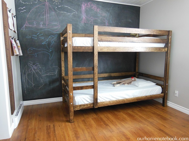 Bunk Bed with Chalk Board Wall