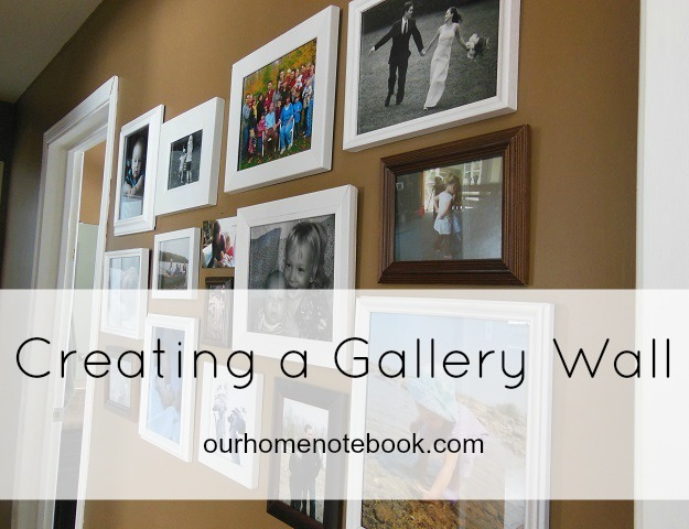 hallway gallery wall our home notebook. Black Bedroom Furniture Sets. Home Design Ideas