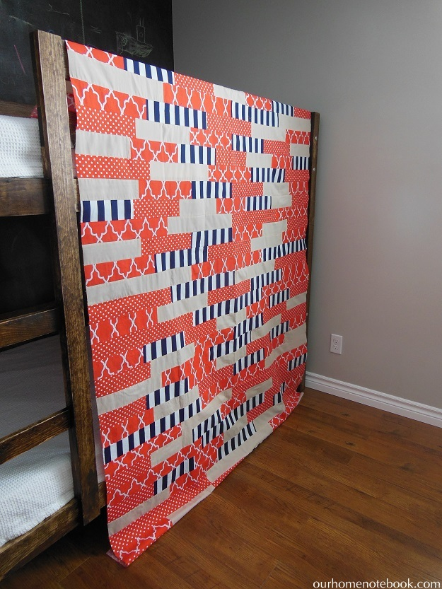 How To Make A Striped Quilt Top