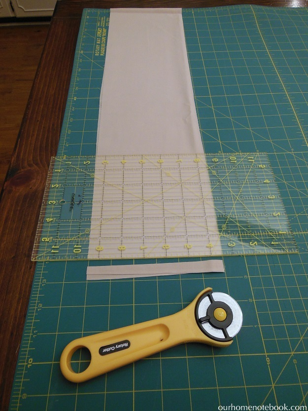 striped quilt cutting ends
