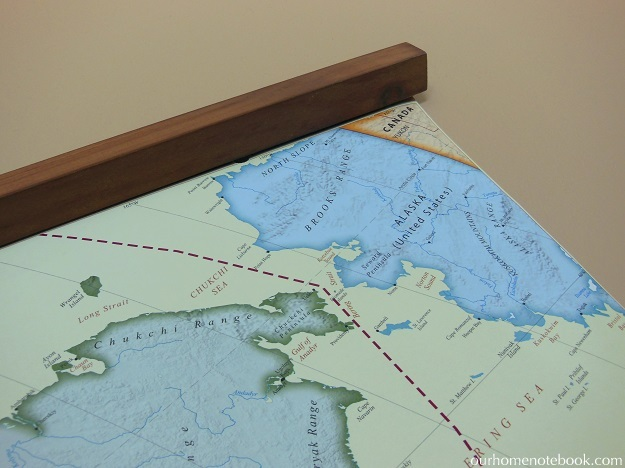 Hanging A Poster: Large Map Art