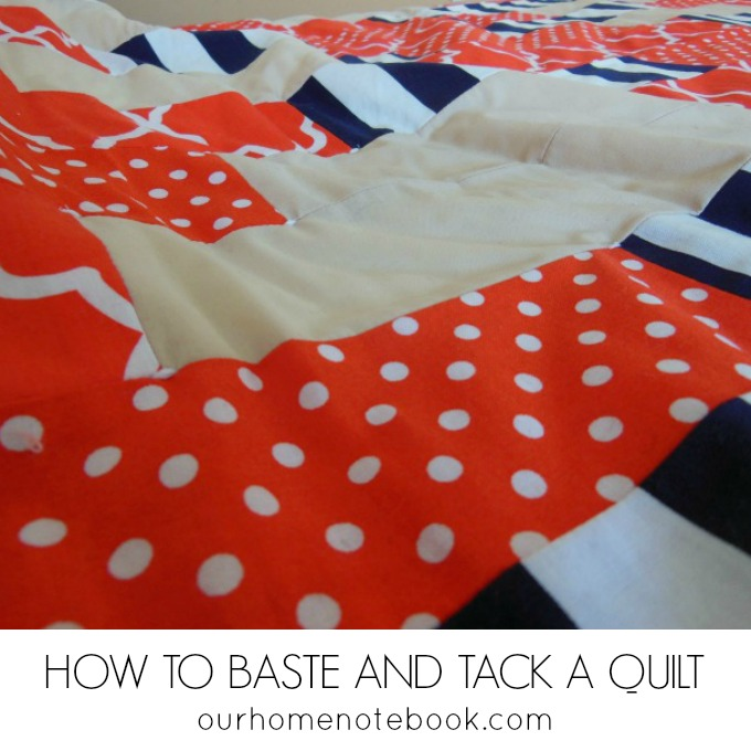 How To Baste And Tack A Quilt | Our Home Notebook : quilt tacking - Adamdwight.com