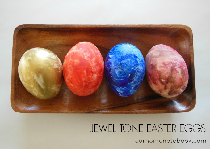 Jewel Tone Easter Eggs