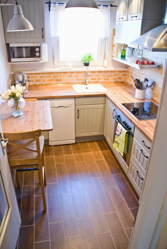 tiny-kitchen-makeover-with-painted-backsplash-and-wood-tile-floors-Pudel-design-featured-on-@Remodelaholic-536x800