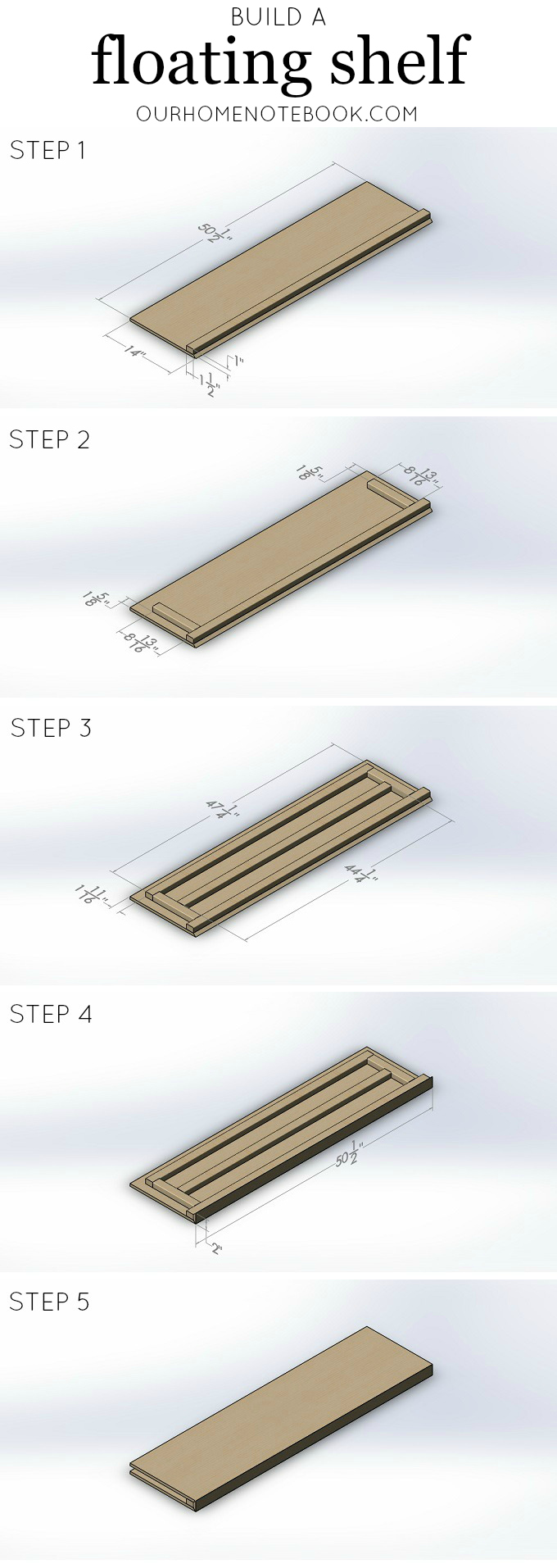 build a floating shelf
