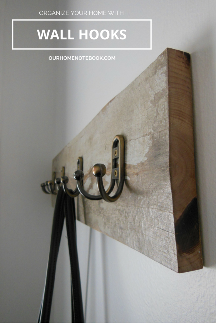 organize your home with wall hooks