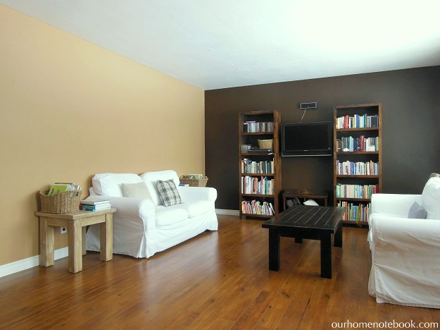 living room with brown walls it work reinventing brown walls our home notebook 22082